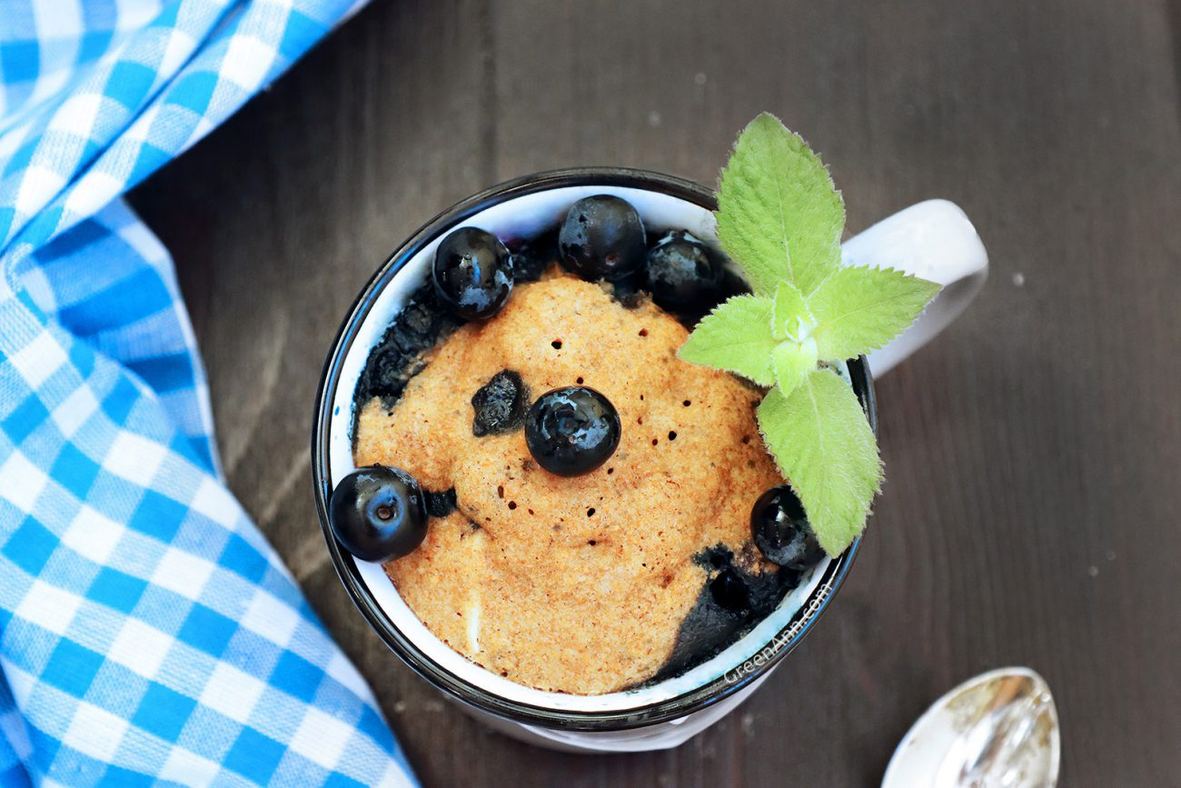 Blueberry Vegan Mug Cake