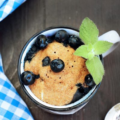 Vegan cake in mug blueberry mug cake recipe wit step by step photos