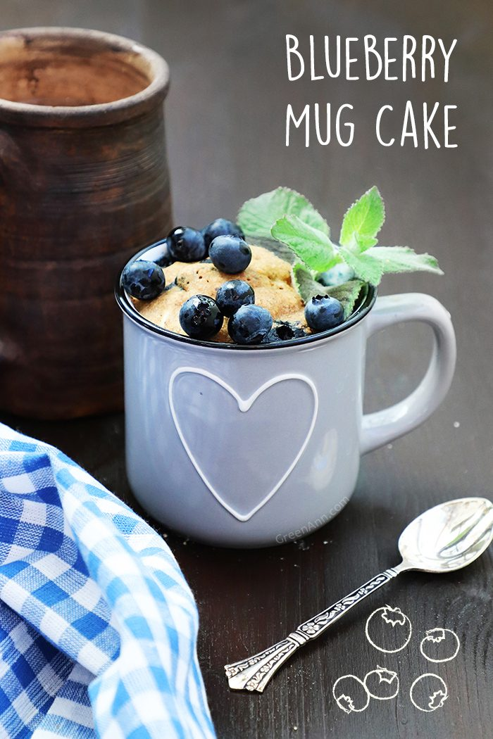 Vegan Blueberry Mug Cake Recipe