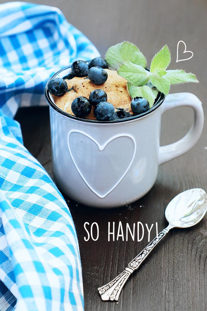 Vegan Blueberry Mug Cake | Easy 5-Minute Recipe - Ann Green