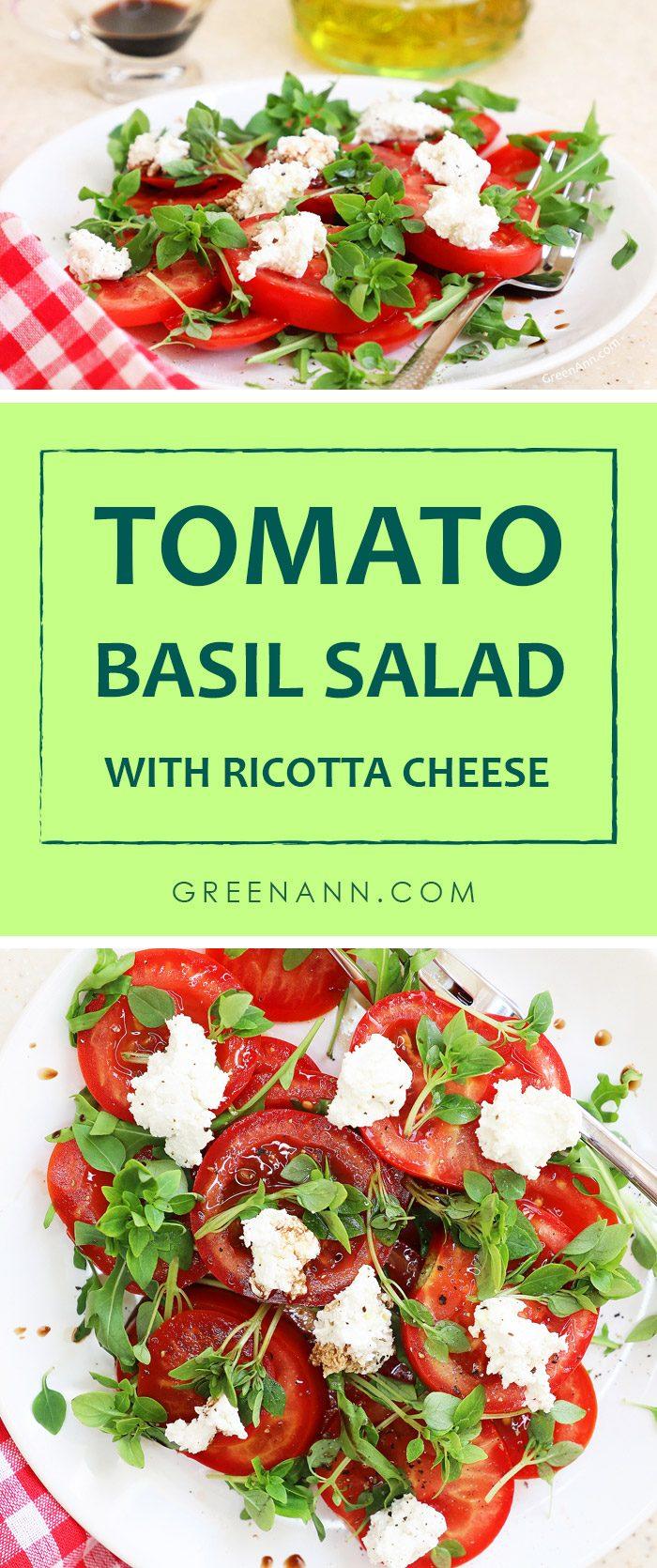 Tomato Basil Salad Recipe