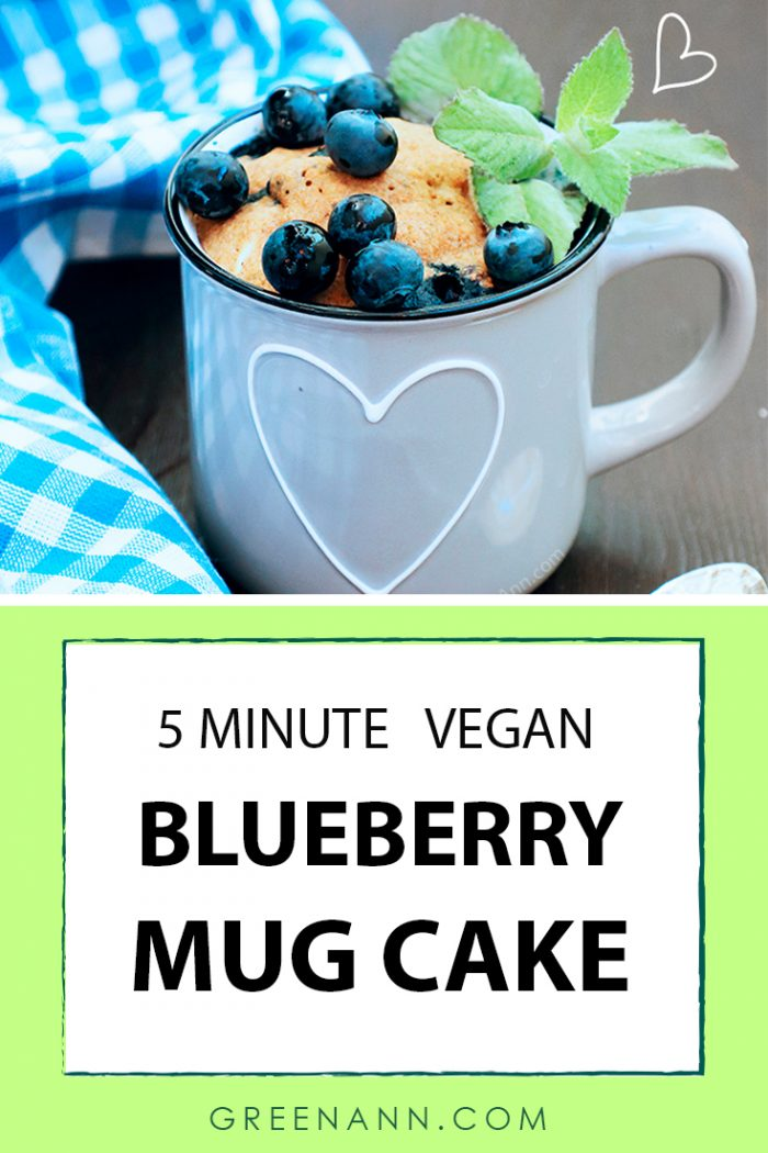 Vegan Blueberry Mug Cake Easy 5-Minute Recipe
