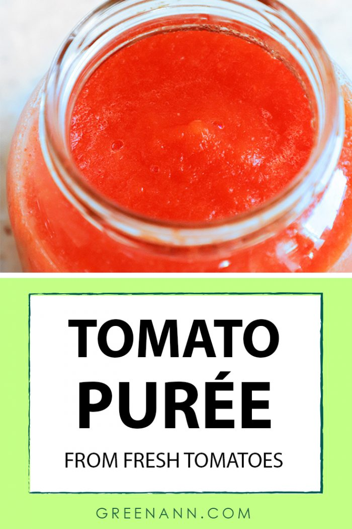 Homemade Tomato Purée Recipe from Fresh Tomatoes with Step-by-Step Photos