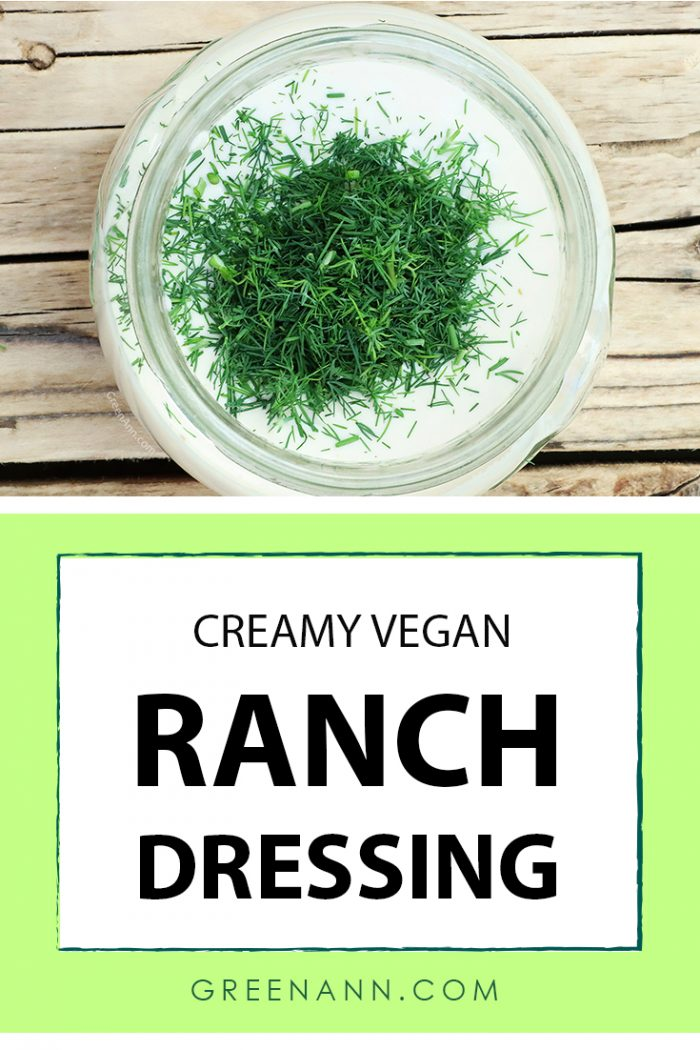 Homemade vegan ranch dressing cashew ranch dipping sauce