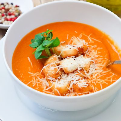 Plant-Based Vegan Vegetarian Tomato Bisque Recipe