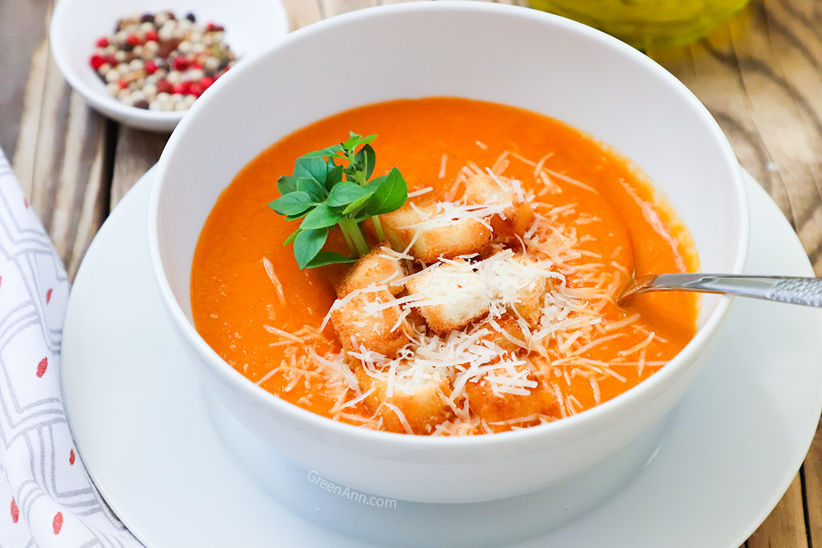 Plant Based Tomato Bisque